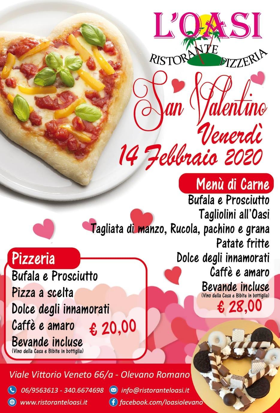 San Valentino 2020 - Ristorante Pizzeria L'Oasi - Olevano Romano